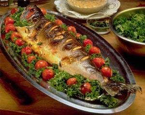 سمك دنيس مشوي