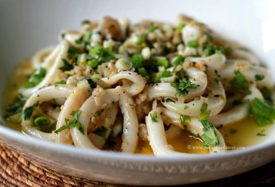 Calamari with Butter & Garlic