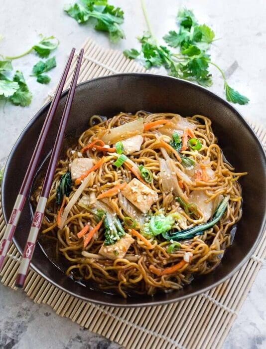 Chow Mein with Chicken