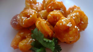 Shrimps with Sesame