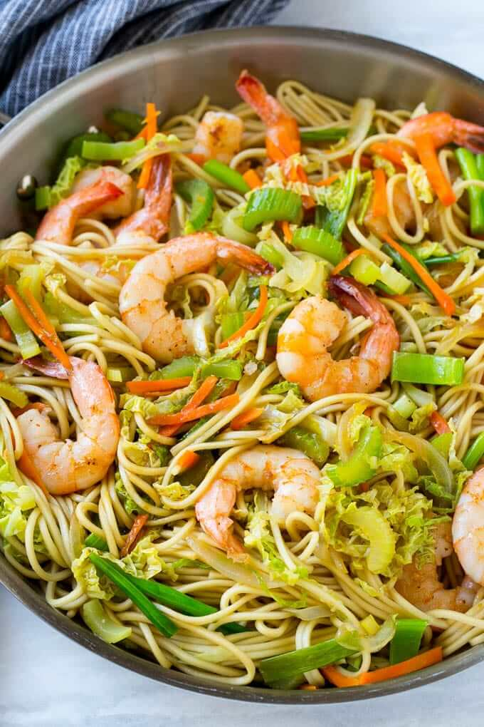 Chow Mein with Shrimps
