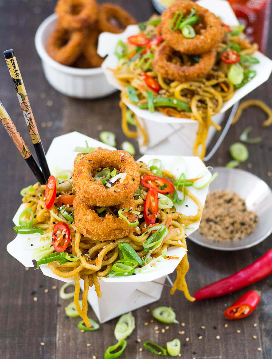 Chow Mein with Calamari