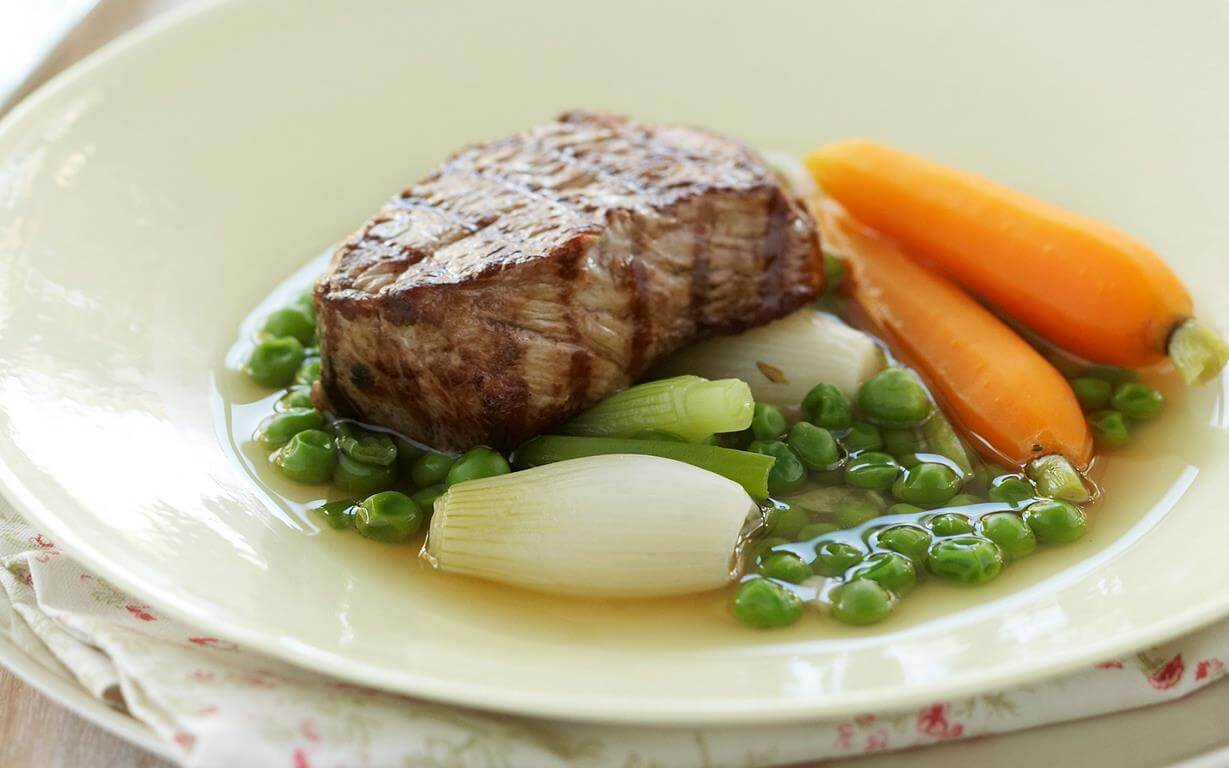 Veal With Spring Onions