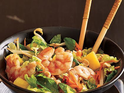 Shrimps with Bean Sprouts