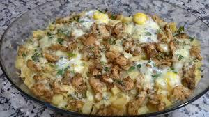 Potato with eggs