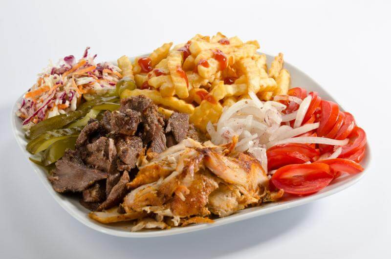 Platter of Shawarma + Salads