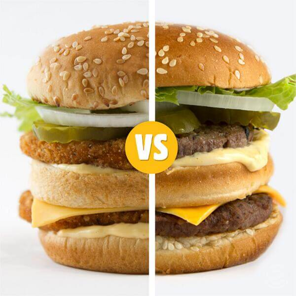 Chicken Burger or Beef +Cheese