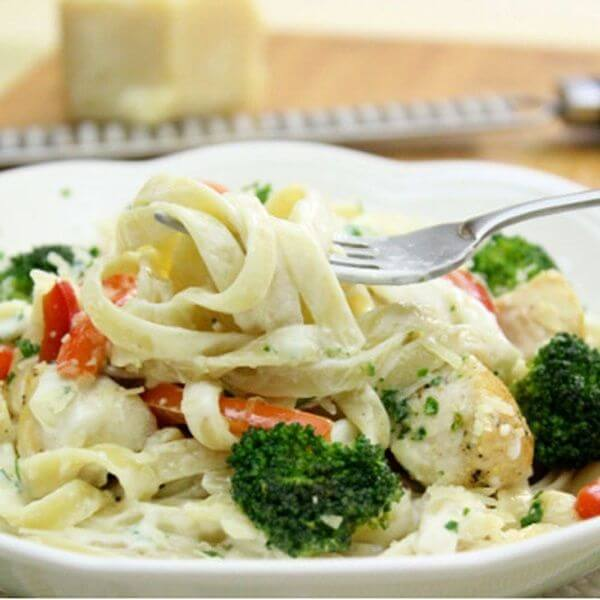 Vegetable Fettuccine Alfrido