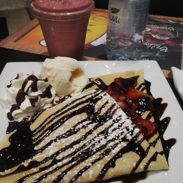 Crepe Nutella +Ice cream