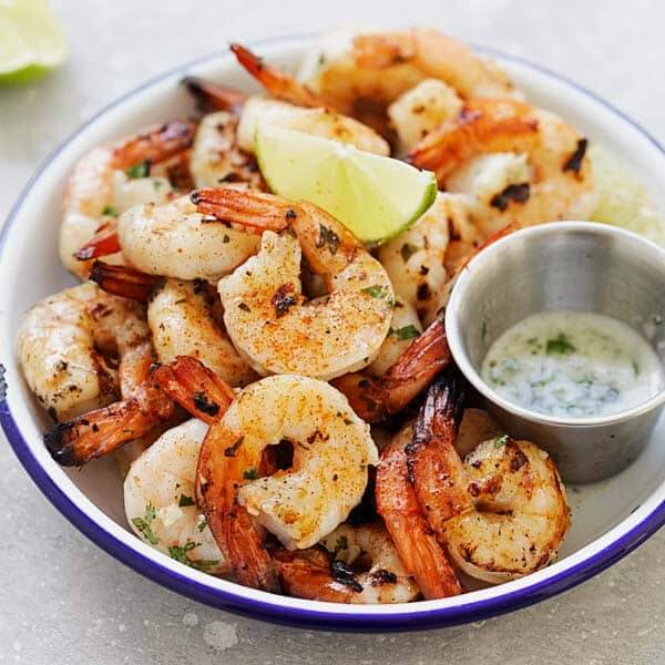 Garlic and lemon shrimps