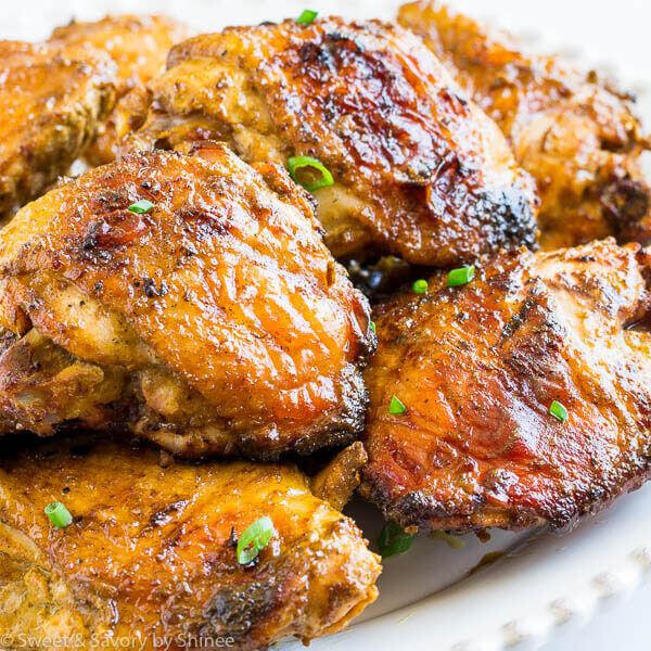 دجاج مسحب مشوي