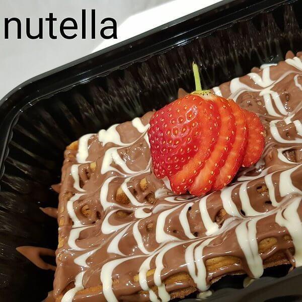 وافل نوتيلا+بوظة