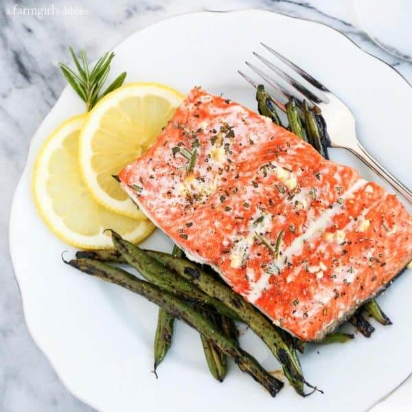Salmon Steak With Rosemary