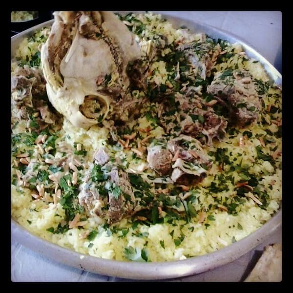 (Palestinian Mansaf (Chicken