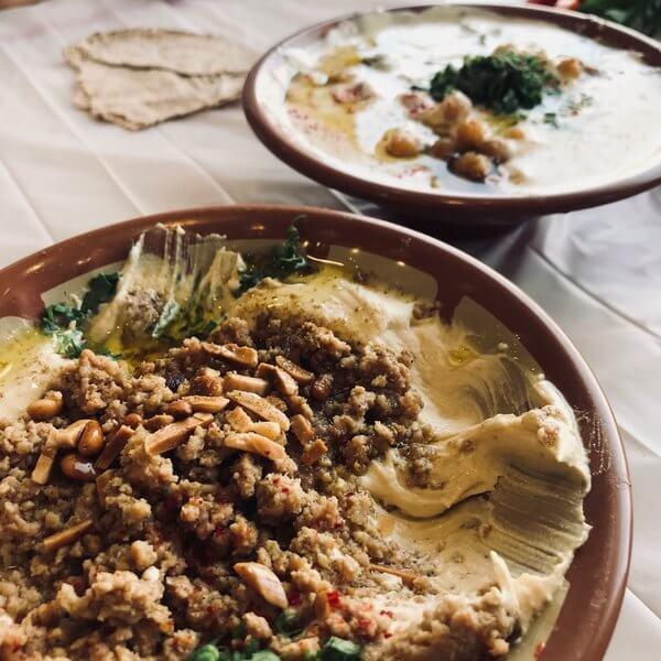 Humus With Lamb Meat