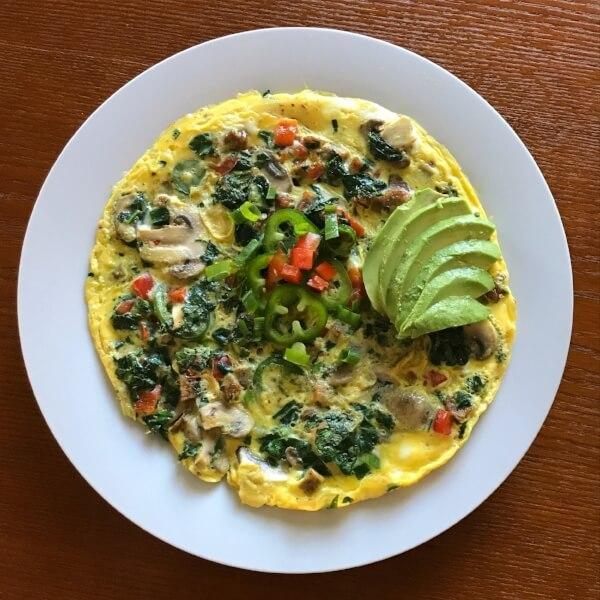 Vegetable&Mushroom Omelette