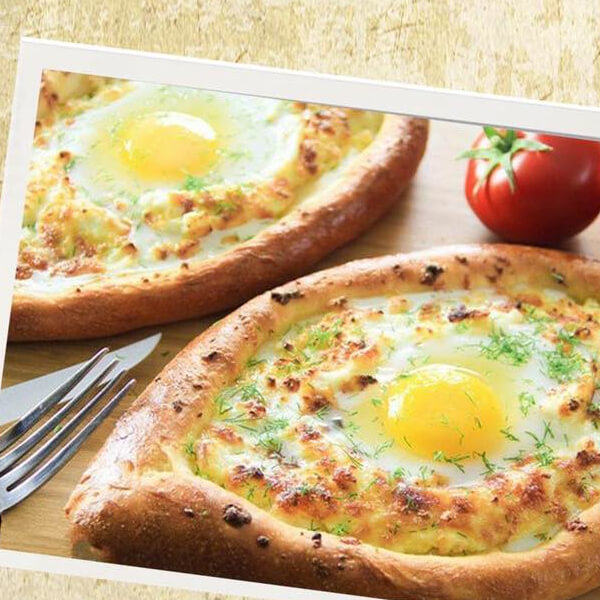Eggs with cheese triangles