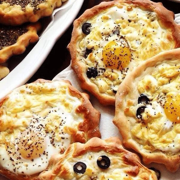 Eggs with olives