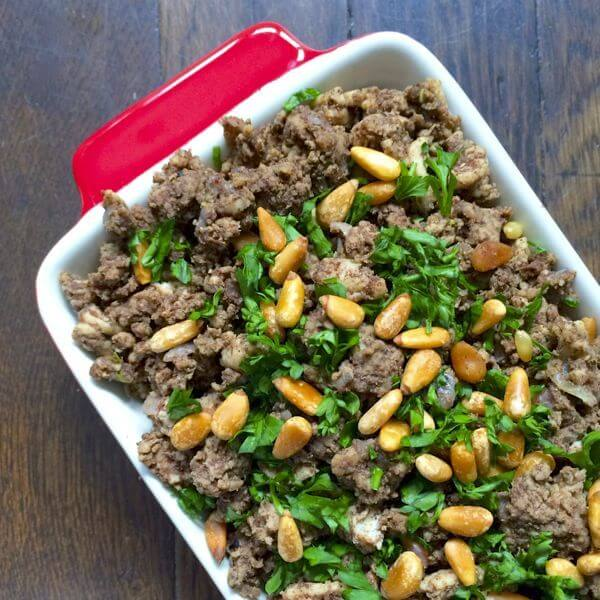 Fatteh with Nuts & Meat