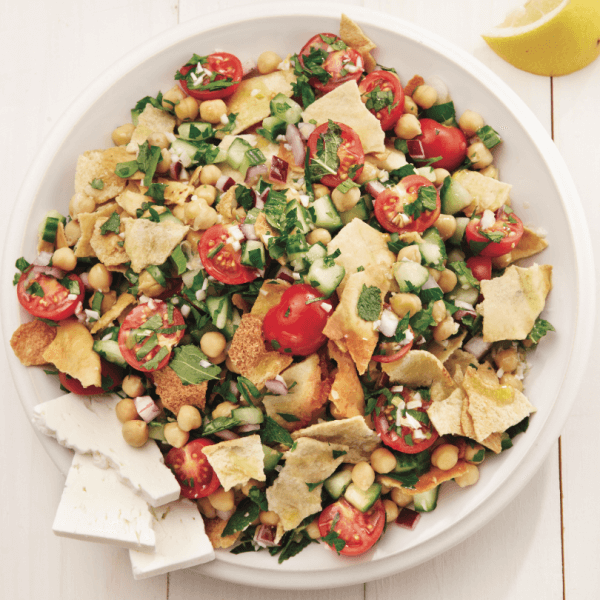 Fattoush With Cheese