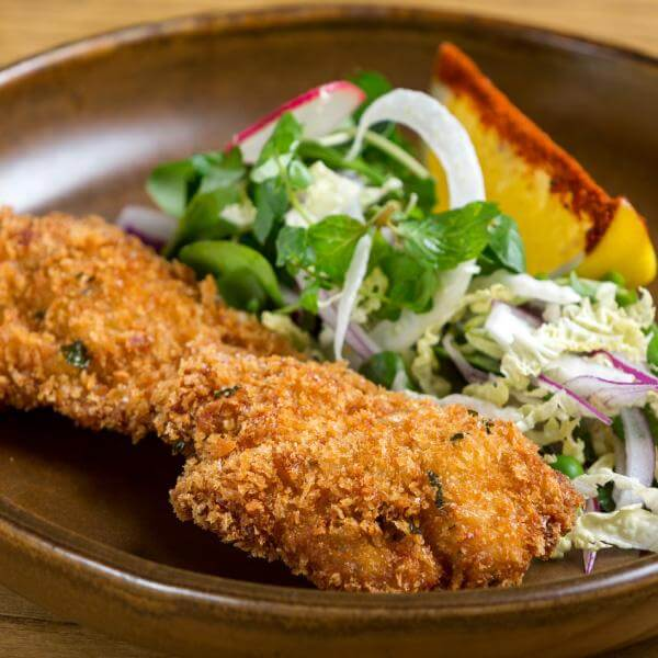 Schnitzel Meal With Potato& Salad