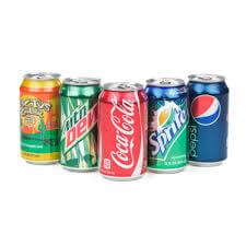 Cola , Fanta , Sprite & Diet