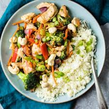 Chicken with vegetables + rice