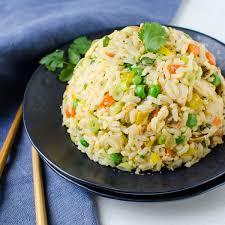 Chicken with garlic + rice