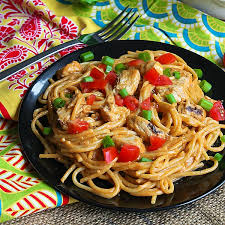 Chinese pasta with chicken