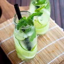 Lemon juice and mint