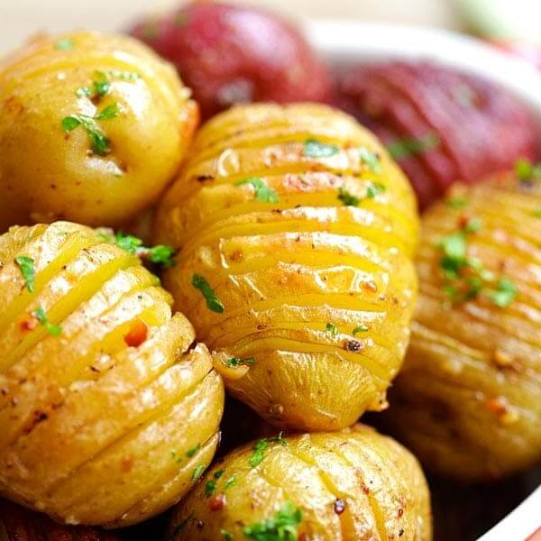Potato with garlic