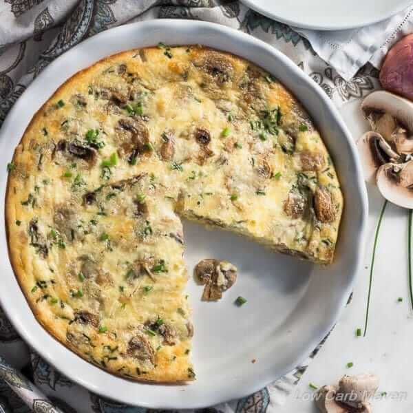 Eggs with mushrooms