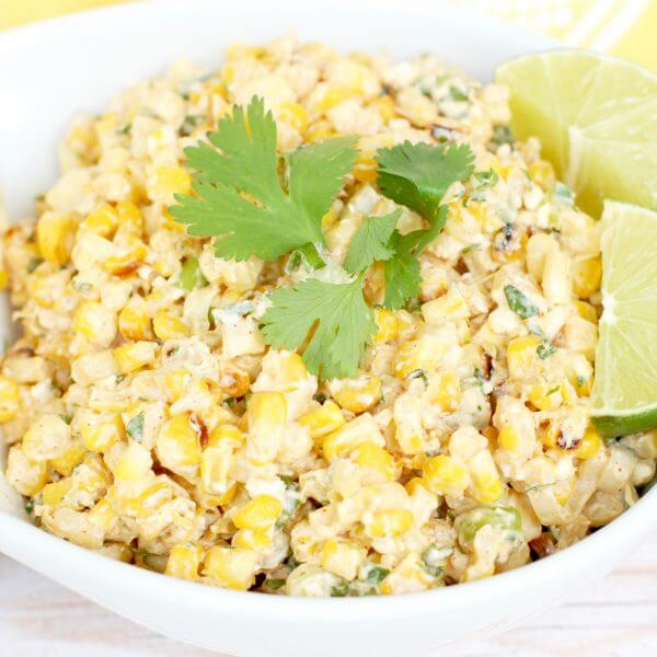 Salad of corn and mayonnaise