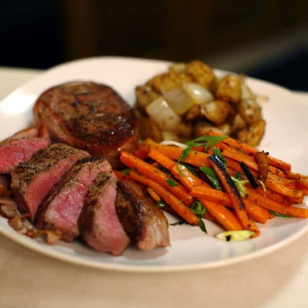 Fillet Steak Vegetables