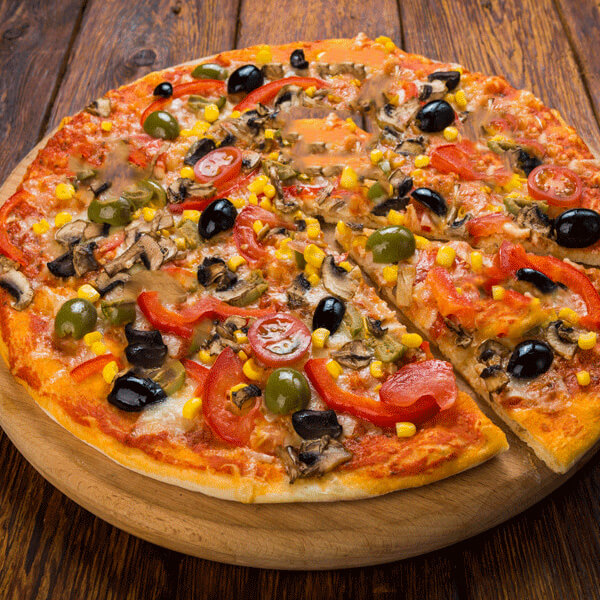 Pizza corn and olives