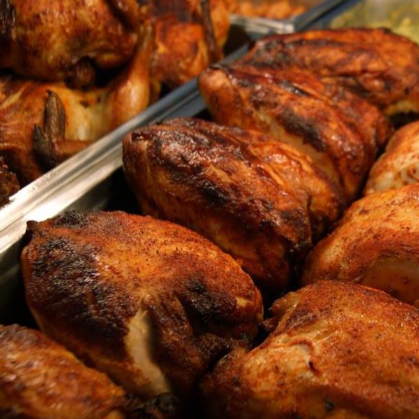 دجاج عالفحم