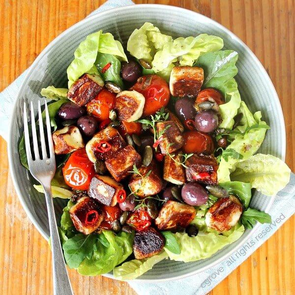 Halomi salad
