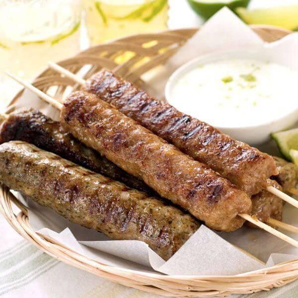 كباب طازج مشوي + بطاطا + سلطة