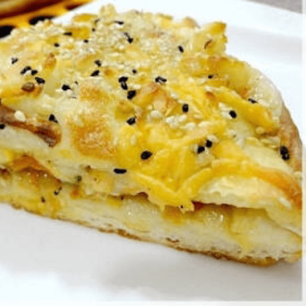Yellow cheese with olives