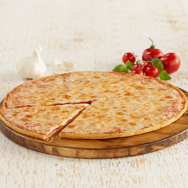 Thin Pizza With 3 Kinds Of Cheese