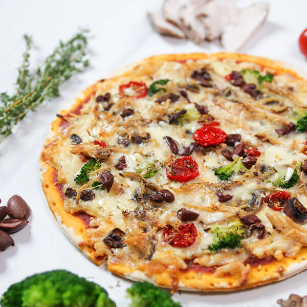 Chicken Pizza With Mushroom