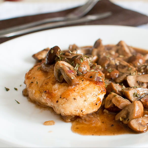 Boneless Chicken with mushrooms