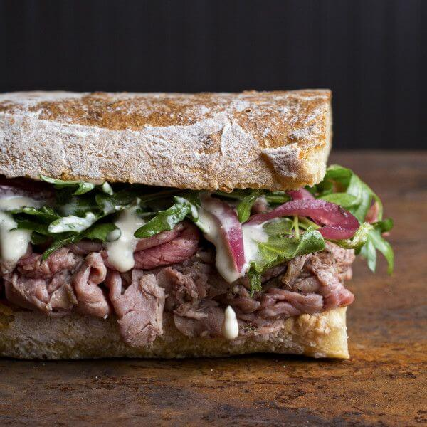 Grilled meat sandwich