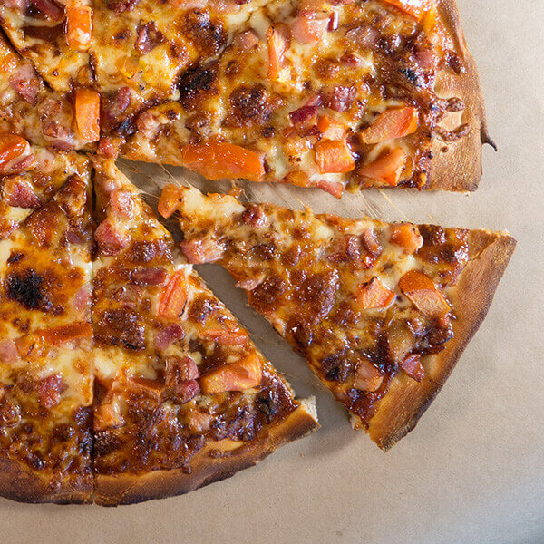 Baby Pizza with Roast Beef