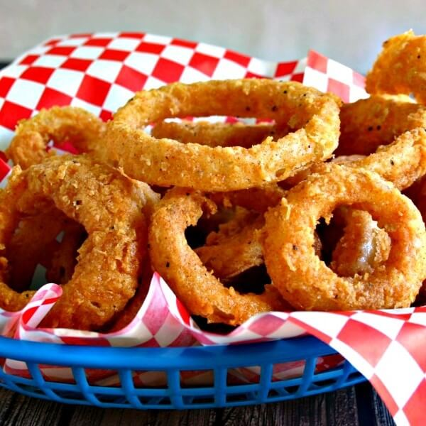 Onion rings meal