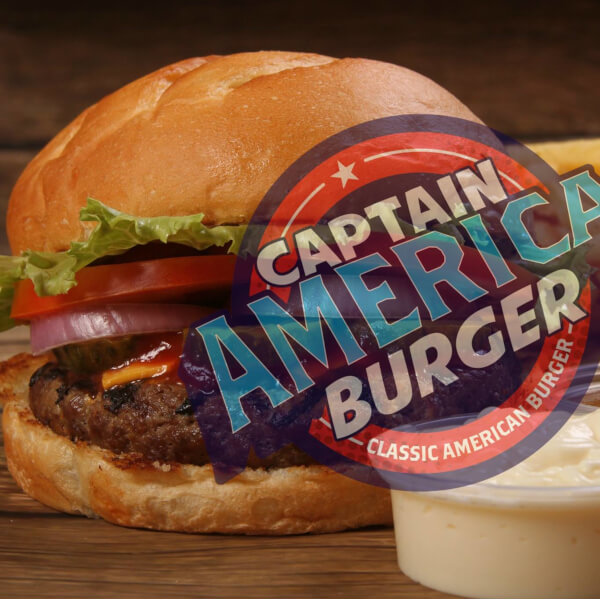 Captain American Burger