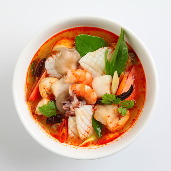Hot seafood soup