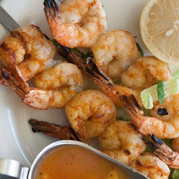 Grilled Shrimp + Potato