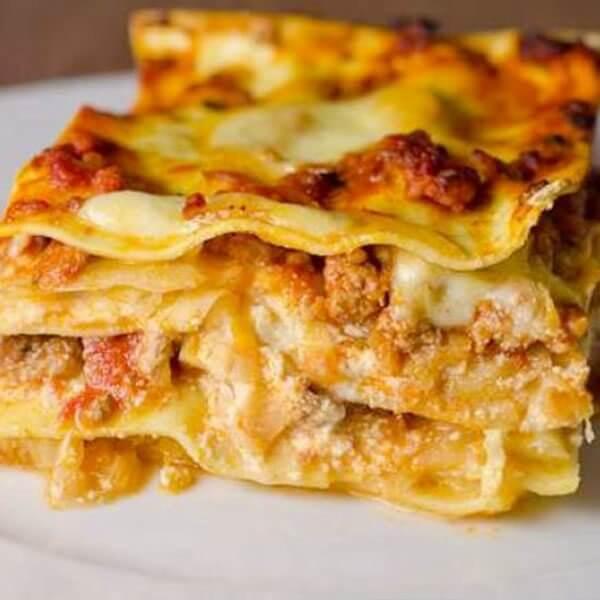Lasagne with cream