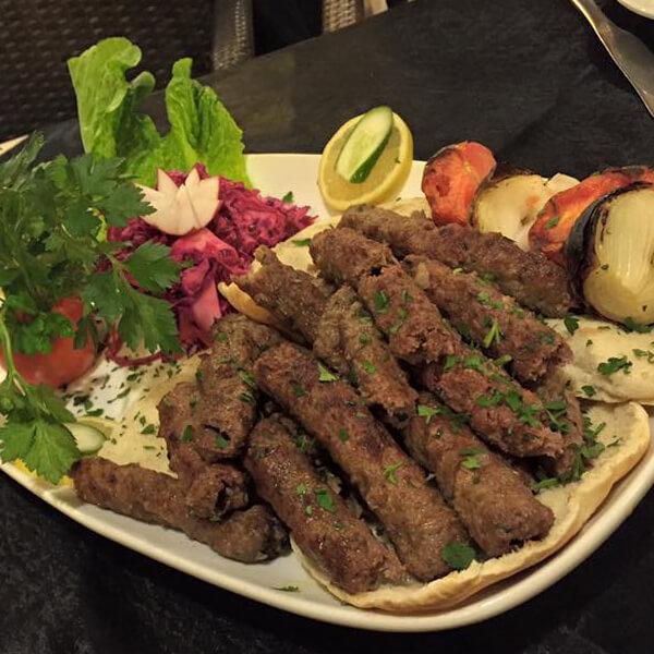 Kebab Halabi with nuts
